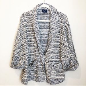 Splendid Tweed Textured Sweater Jacket